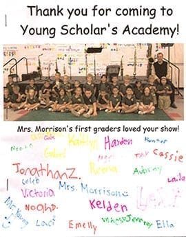 Young Scholar's Academy - Thank You Letter